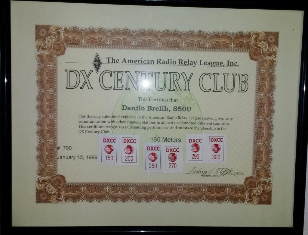 Danilo Brelih, S50U DXCC 160 Meters