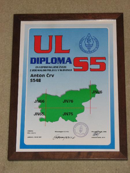 Tone Črv, S54E S5 UL Diploma