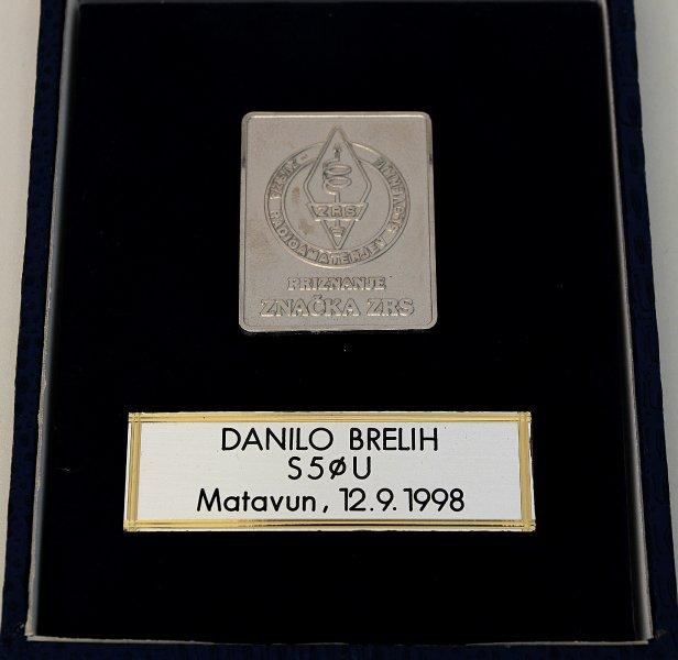 Danilo Brelih, S50U Srebrna značka ZRS