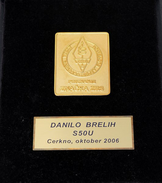 Danilo Brelih, S50U Zlata značka ZRS