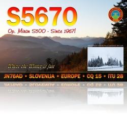 S567O op Miran S50O QSL card