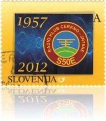 Priložnostna poštna znamka ob 55. obletnici Radio kluba Cerkno, S50E