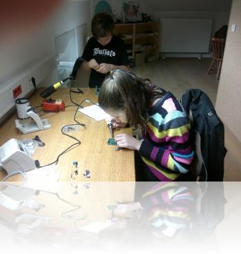 Radioamaterski krožek v osnovni šoli Cerkno