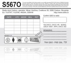 S567O QSL Card rear