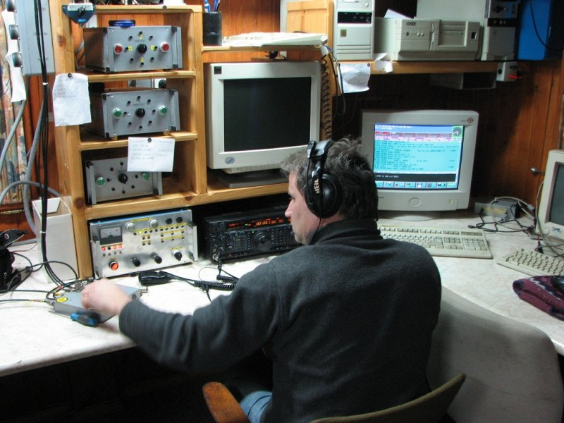 Except computers and radio station all equipment at Gorski Vrh are homemade. S50U running 1,8 MHz