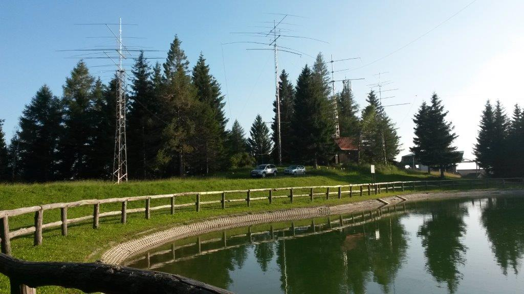 Radio club Cerkno, S50E Črni vrh nad Cerknim, 1300 m asl
