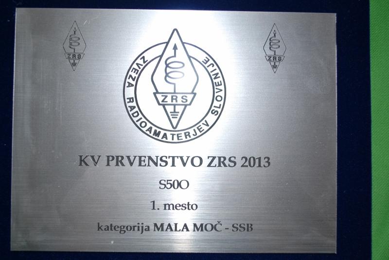Miran Vončina, S50O KVP 1. mesto mala moč SSB 2013