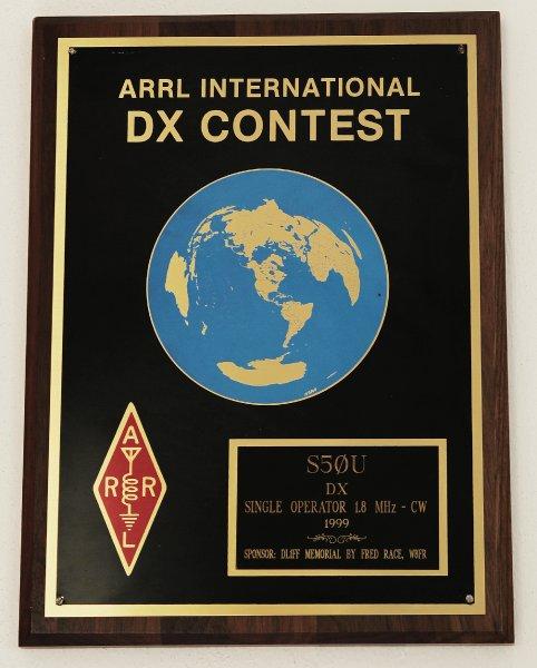 Danilo Brelih, S50U 1999 ARRL SOSB 1.8 MHz World Winner