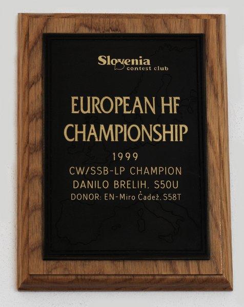 Danilo Brelih, S50U 1999 EU HFC SOAB Low Power Champion