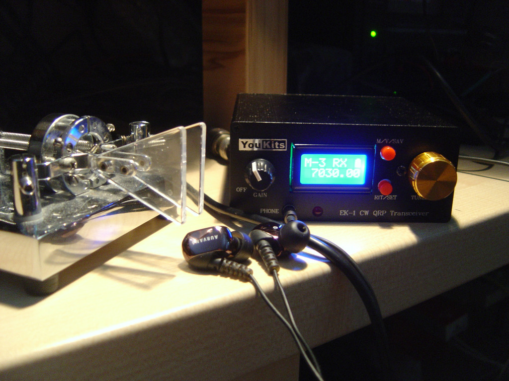 QRP postaja YouKits EK1A za 40-30-20m v kitu - Prvi preizkus