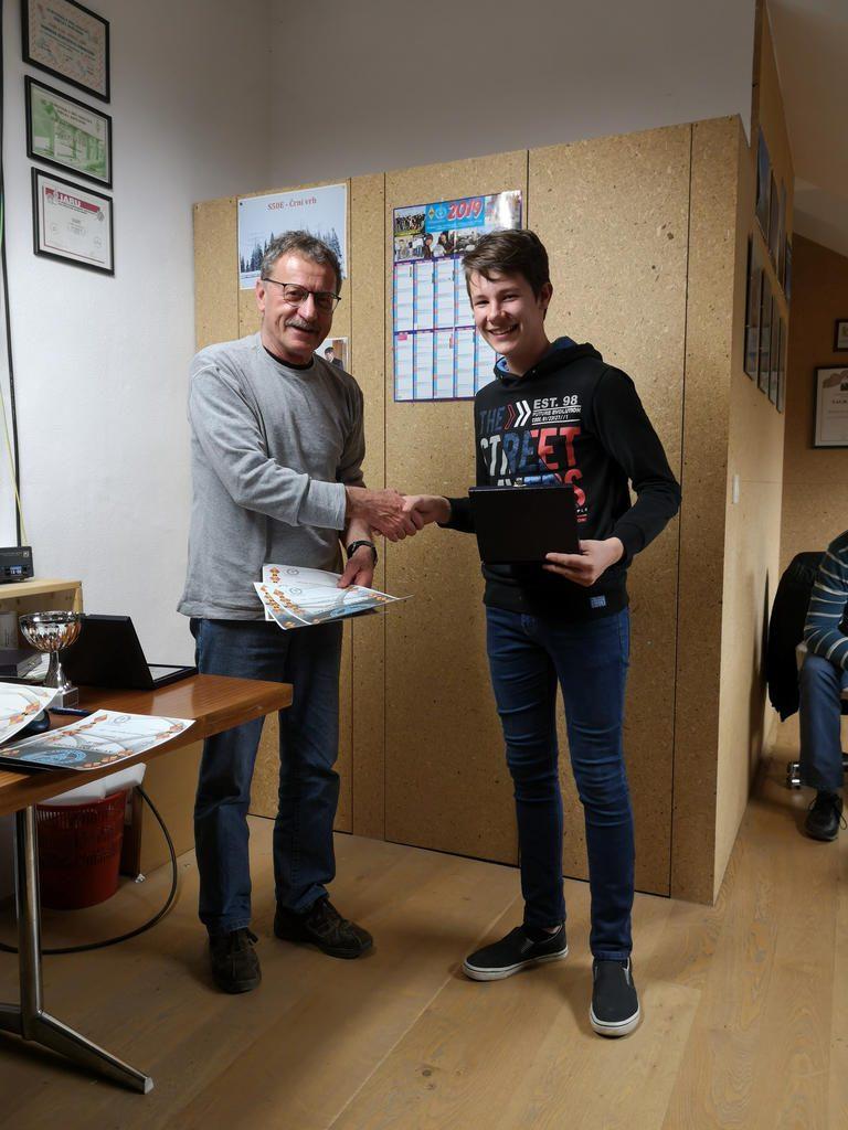 Gašper S52GBB prejemnik plakete KVP ZRS kategorija NOVINCI za leto 2018