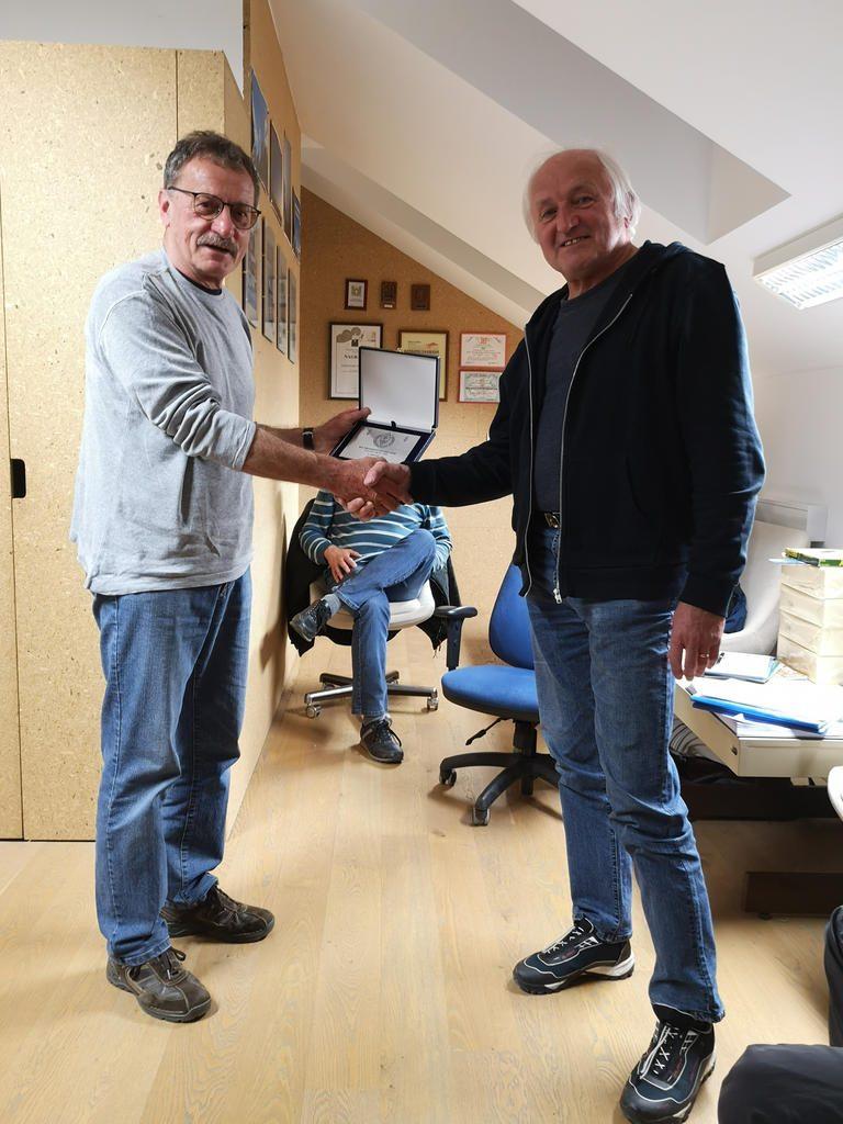 Miran S50O prejemnik plakete KVP ZRS 2018 kategorija SSB velika moč